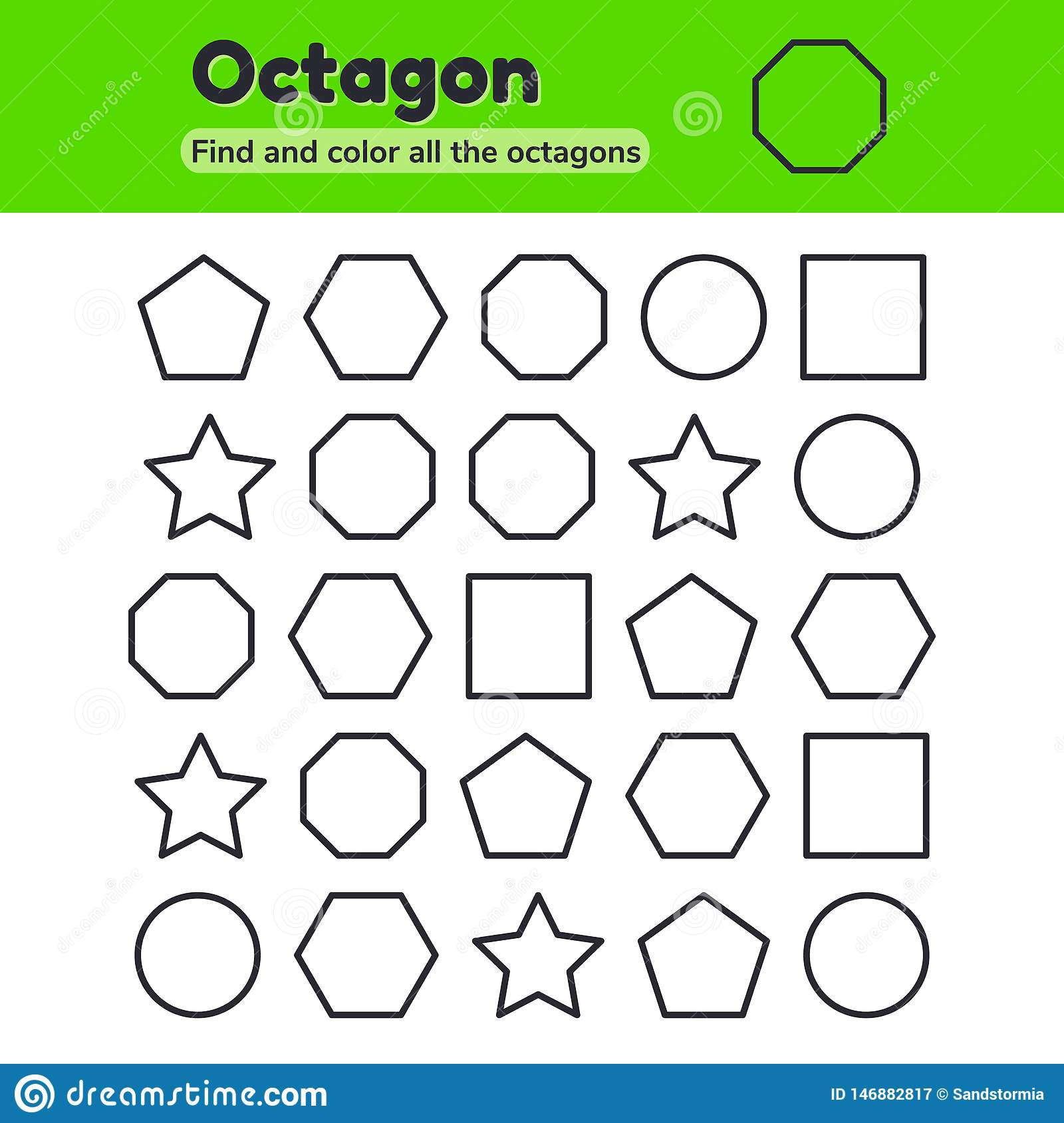Octagon Tracing Worksheets