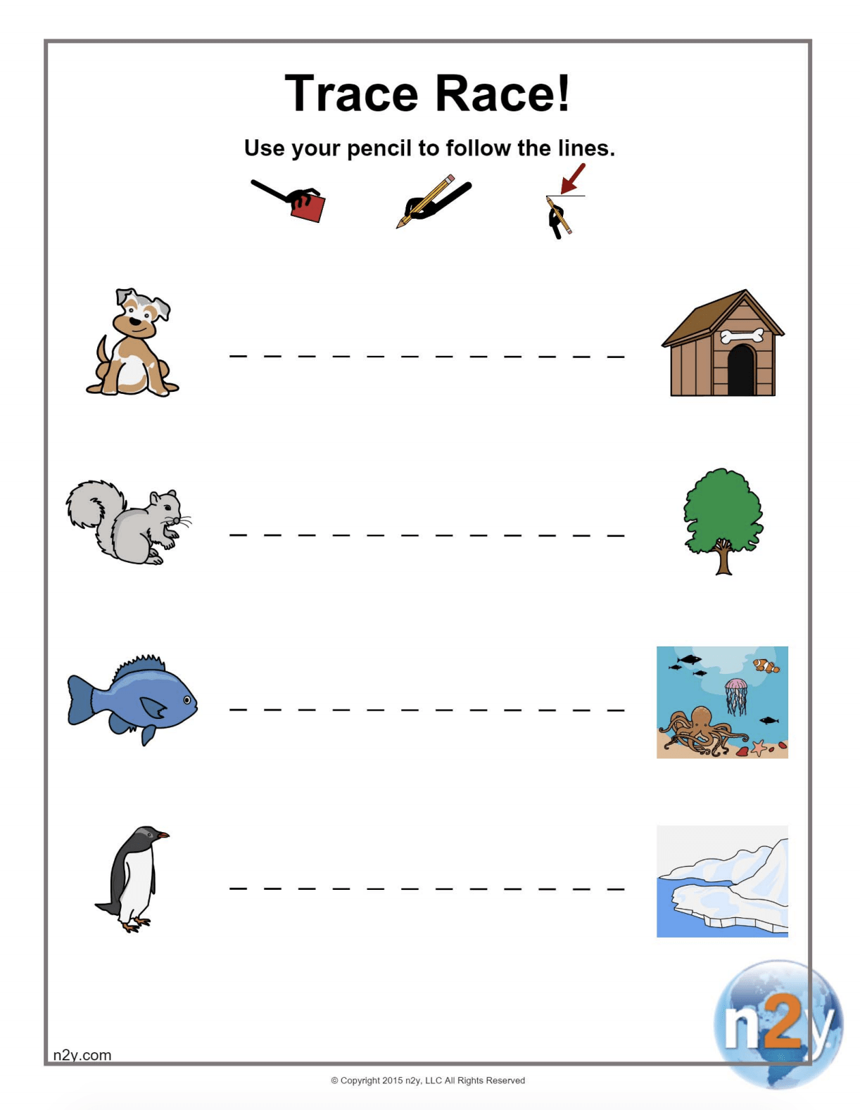 Tracing Straight Lines Worksheets For Preschool