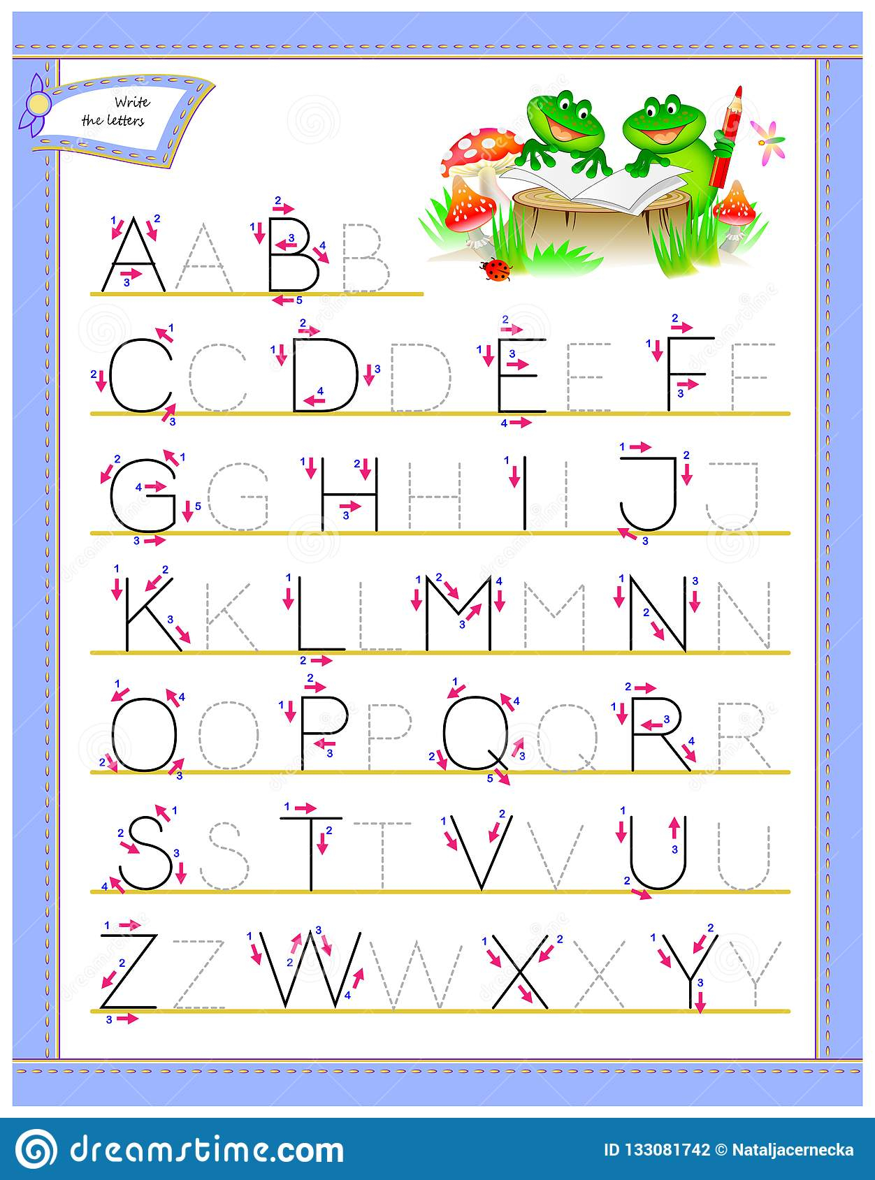 Abcd Tracing Worksheet