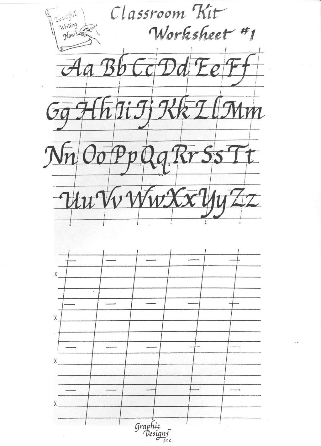 Cursive Alphabet Easy