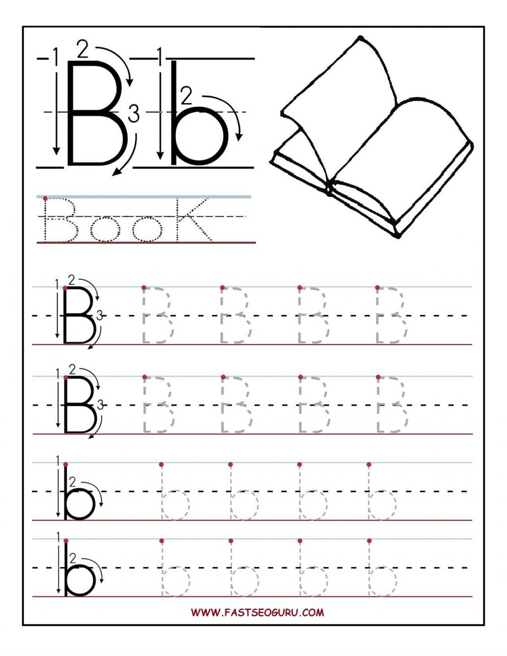 Free Pre K Letter Tracing Worksheets