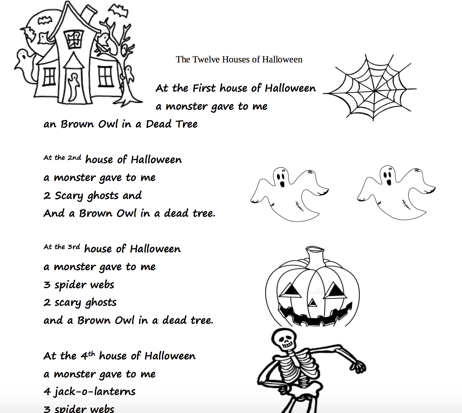 Halloween Worksheets Grade 4