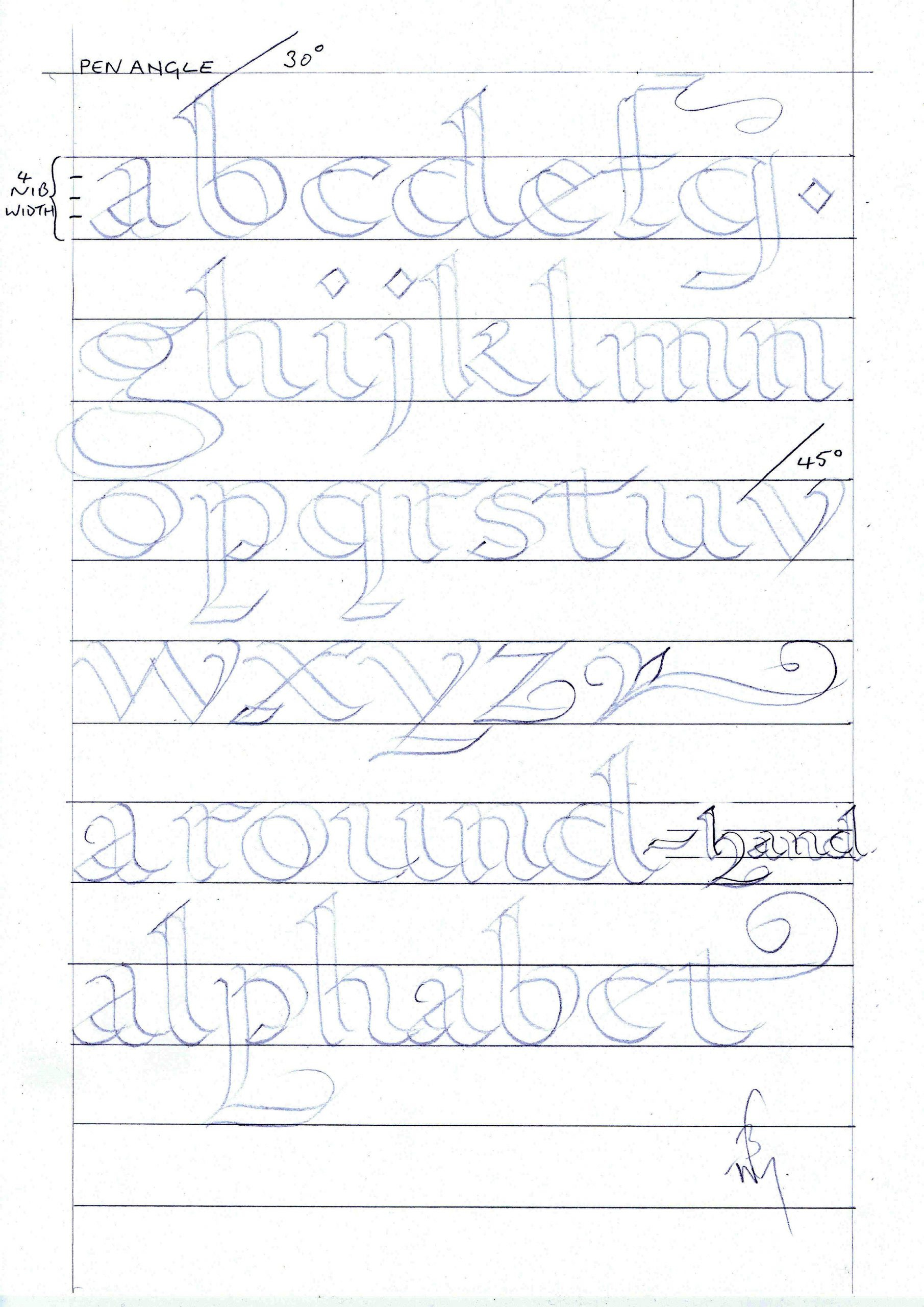 Calligraphy Tracing Worksheets