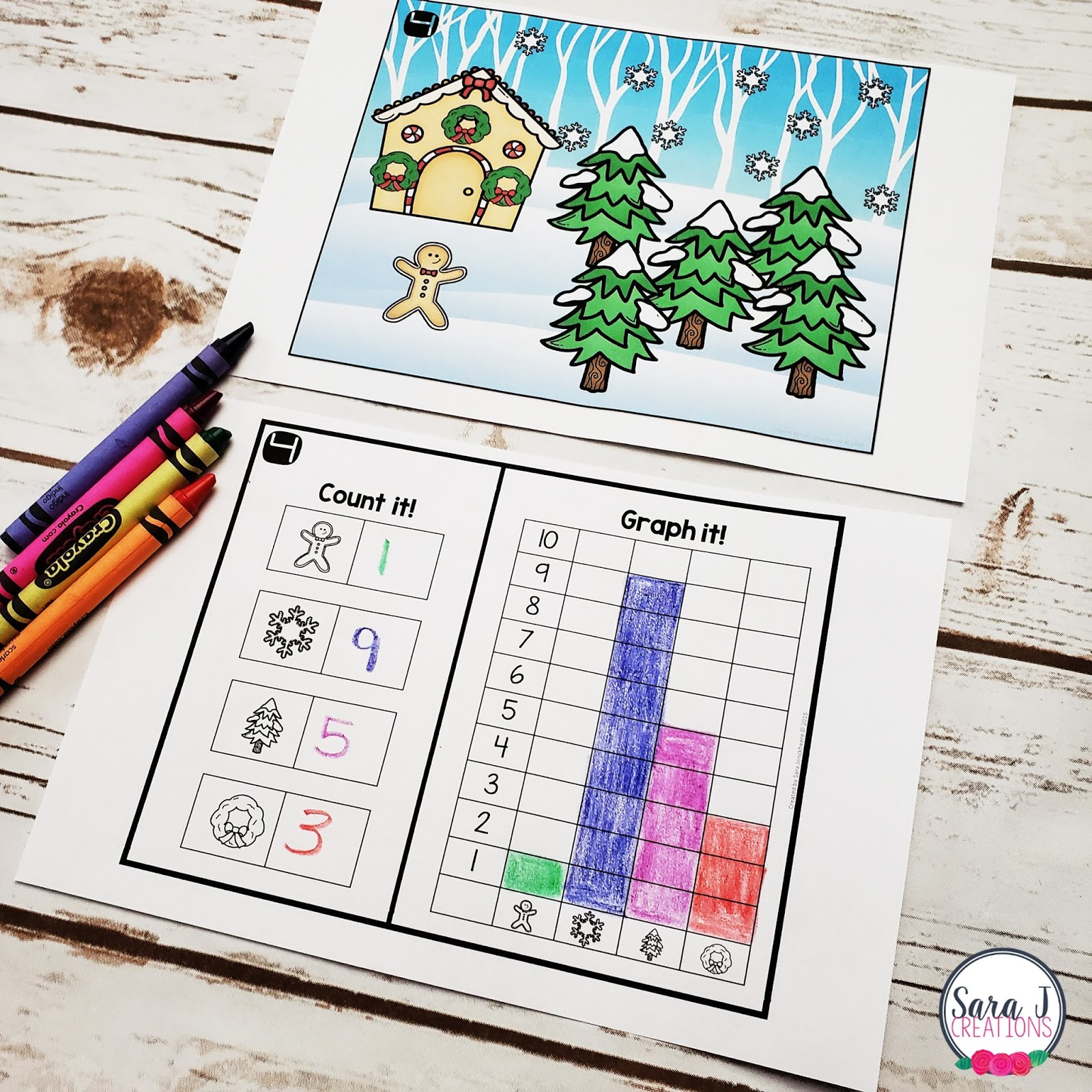 Kindergarten Christmas Graphing Worksheets