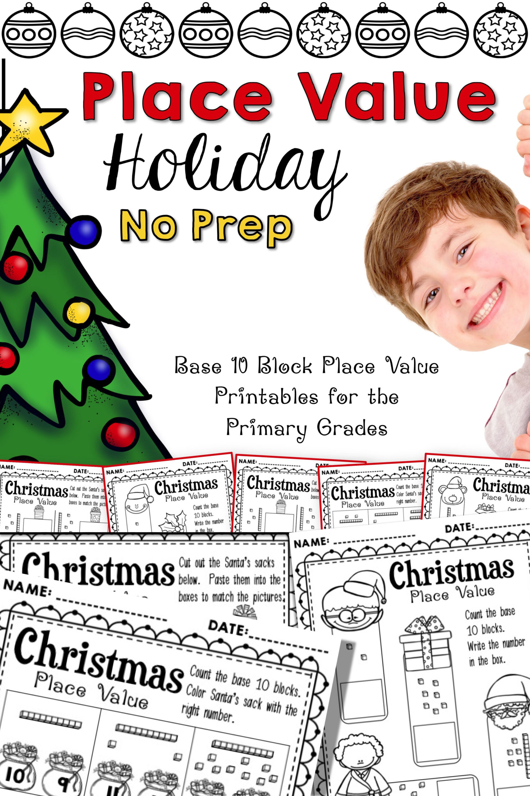 Place Value Christmas Worksheets