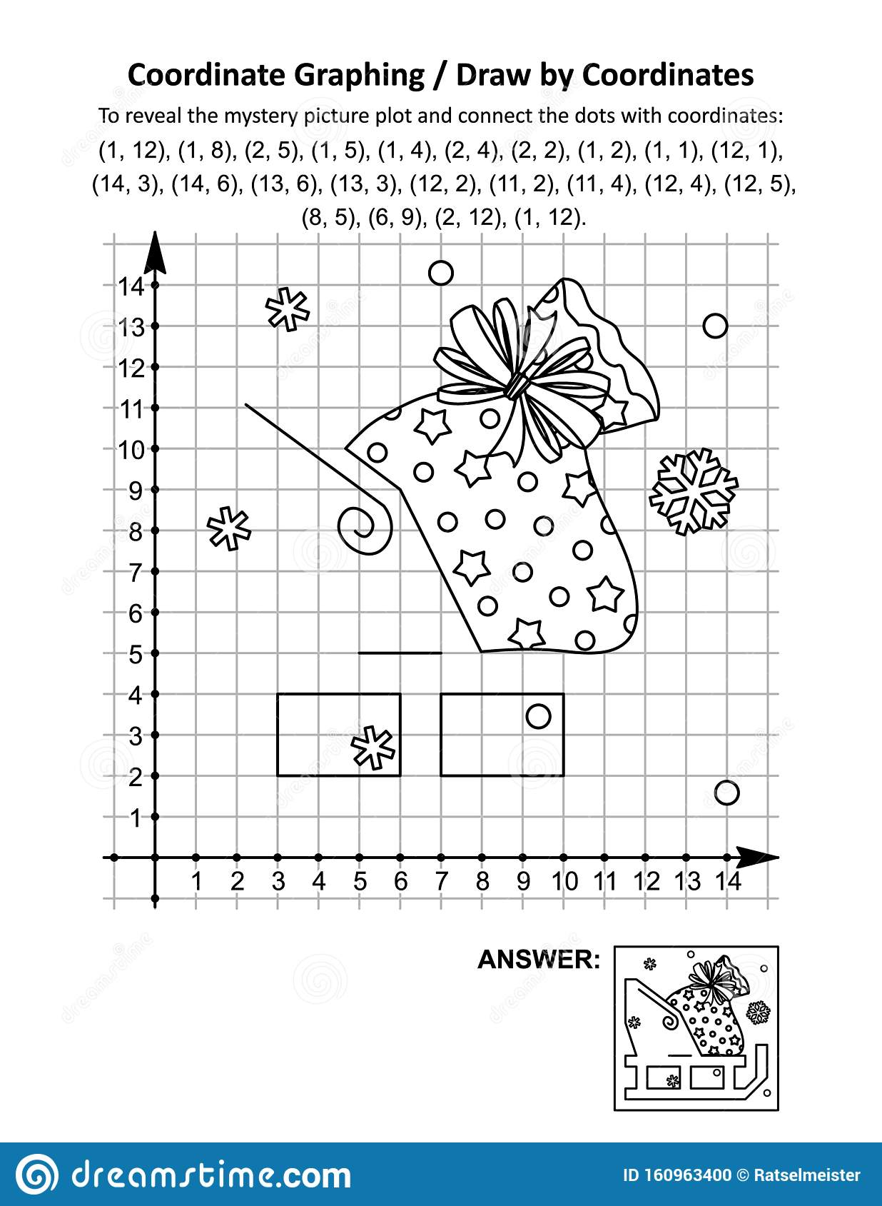 Connect The Dots Graphing Worksheet Halloween Themes