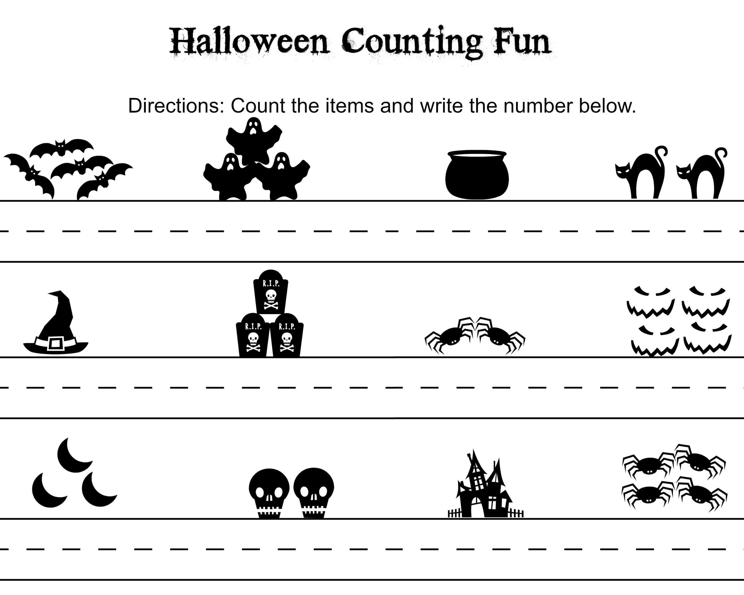 Free 1st Grade Writing Halloween Worksheets