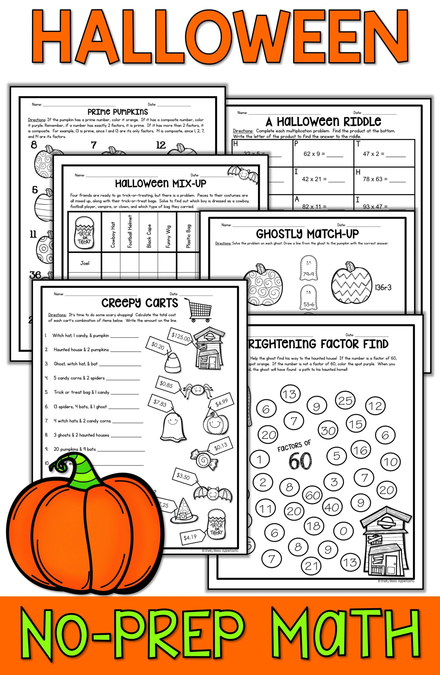 Halloween Mix Up Worksheet Answer Key