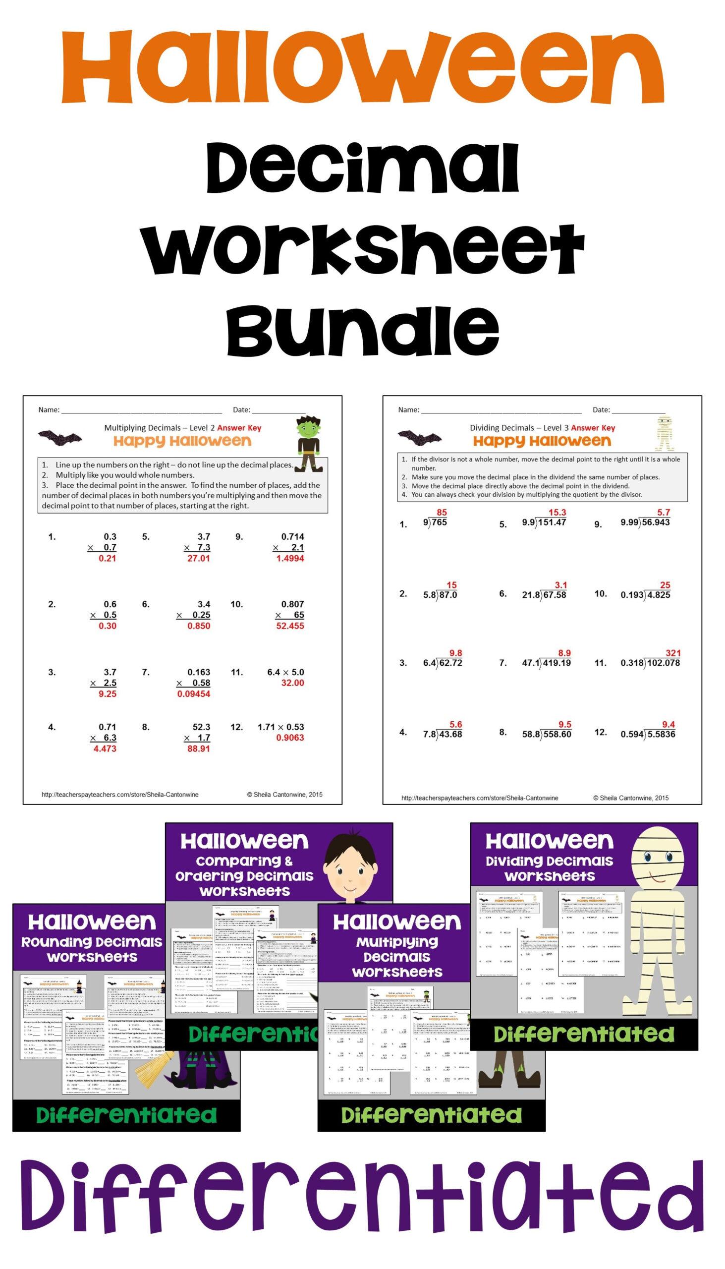 Fun Halloween Math Worksheets 6th Grade