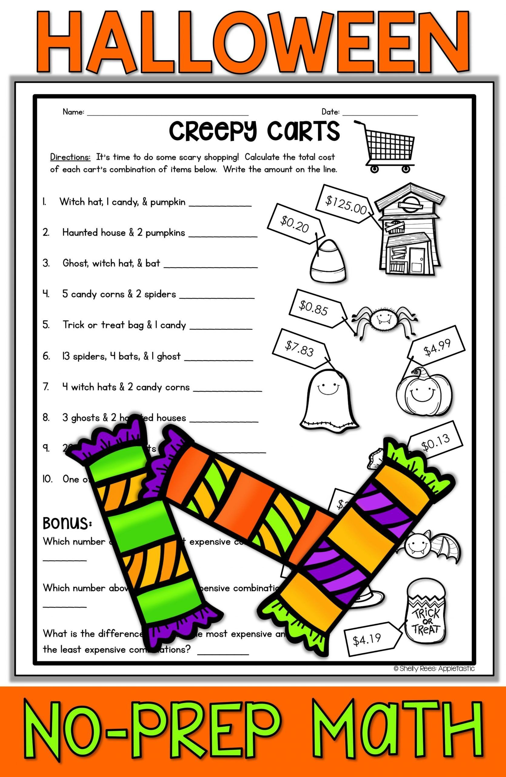 Halloween Maths Worksheets Ks2