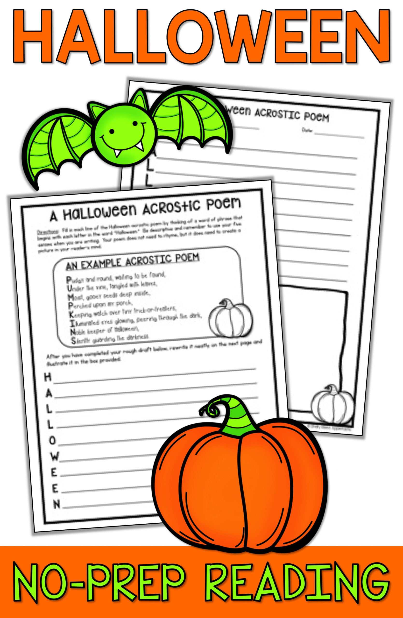 Halloween Reading Worksheets Middle School