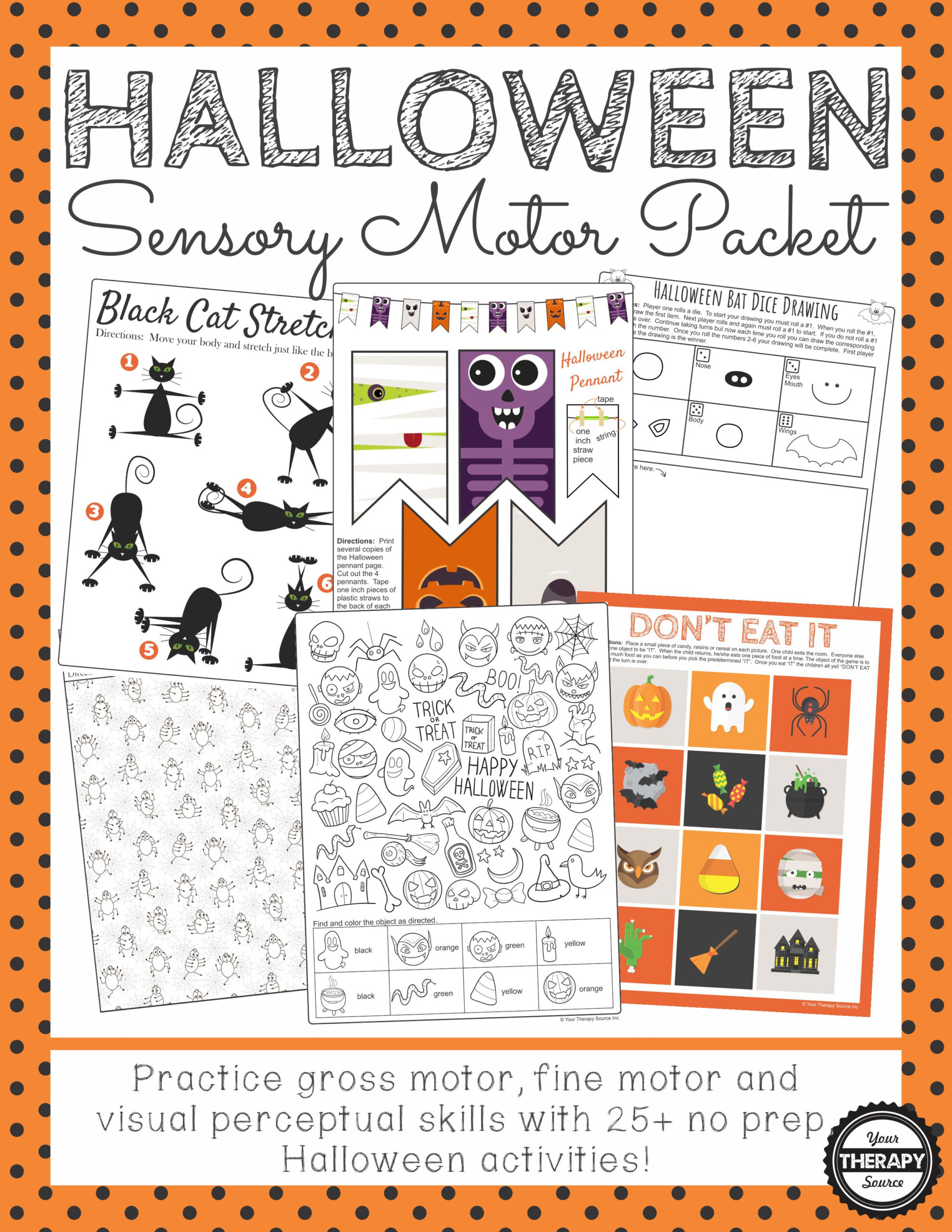 Halloween Visual Perceptual Worksheets