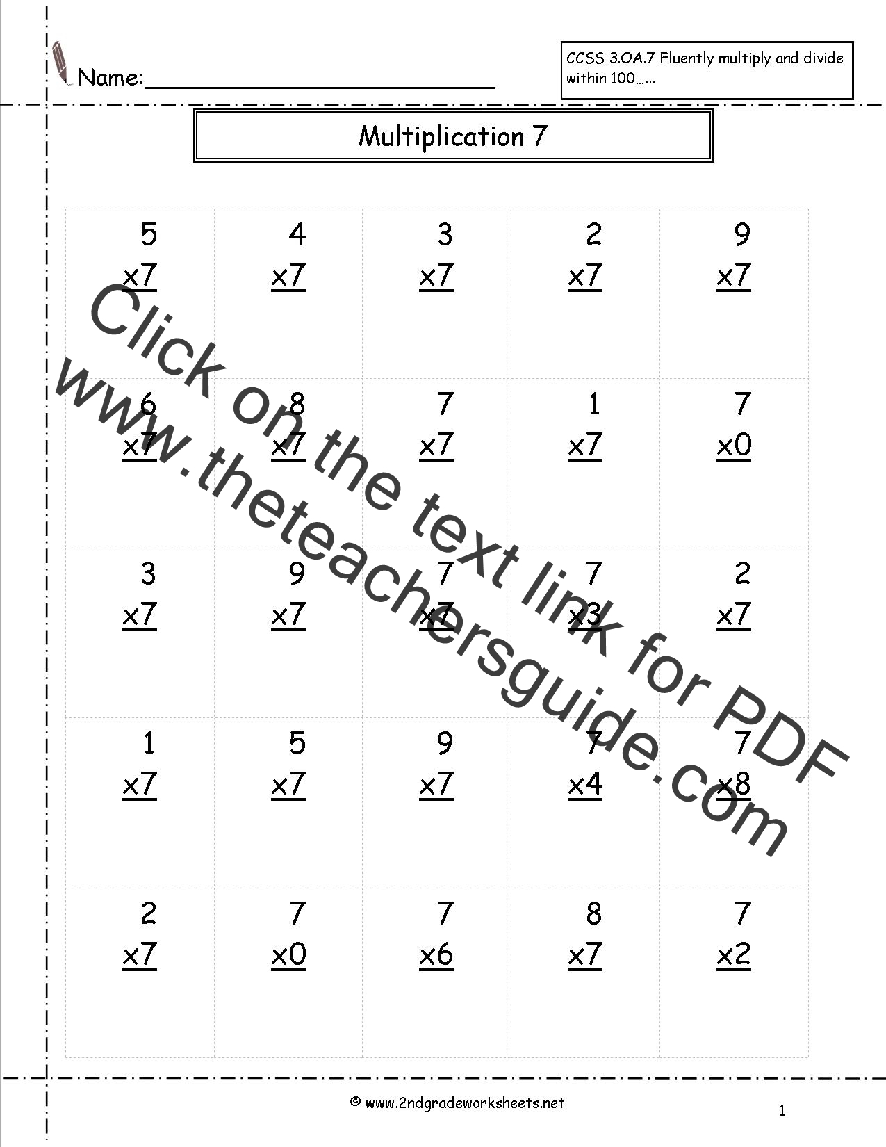 0 1 2 3 Multiplication Worksheets