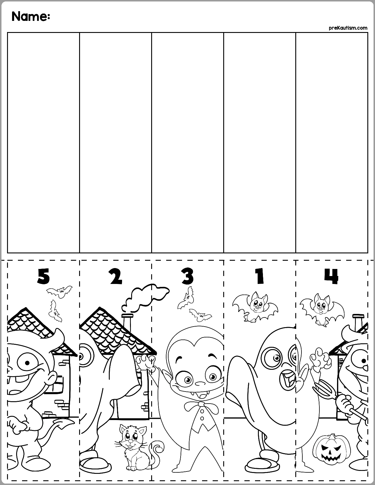 Halloween Sequences Worksheets