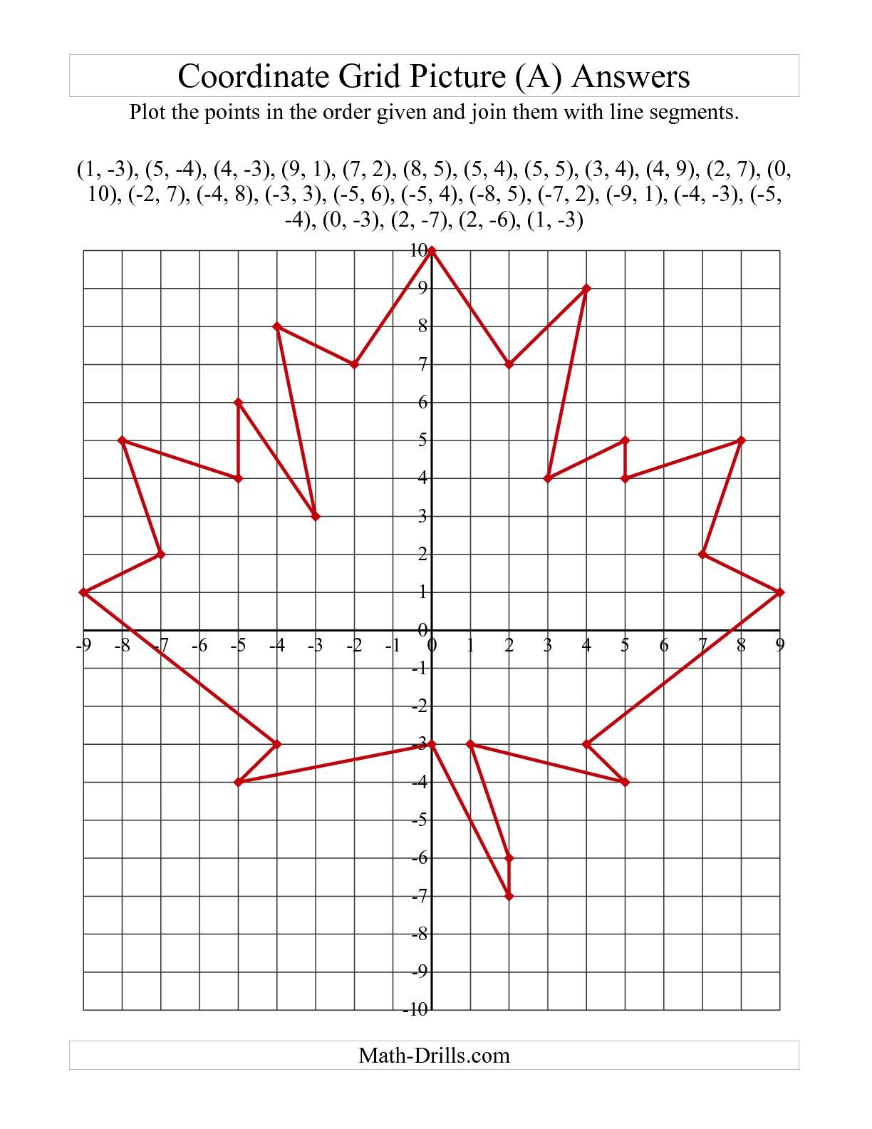 Drawing On The Grid All Hallows Eve Worksheet Answer Key