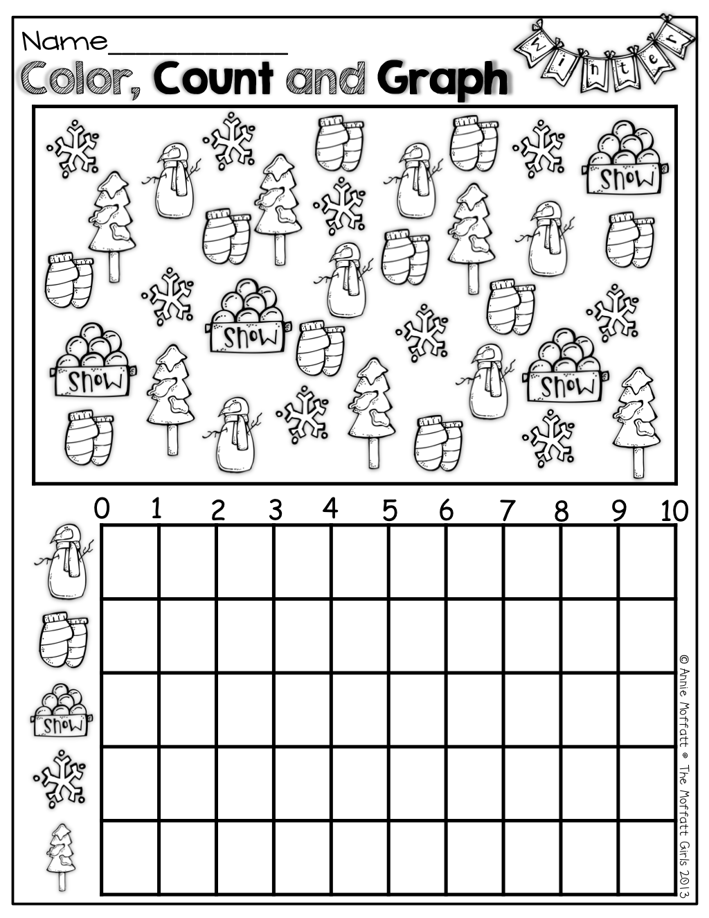 Christmas Graphing Pictures Worksheets