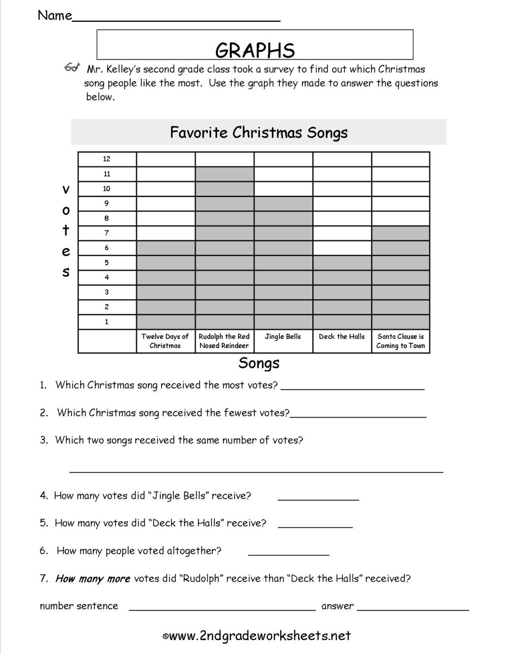 Christmas Science Worksheets