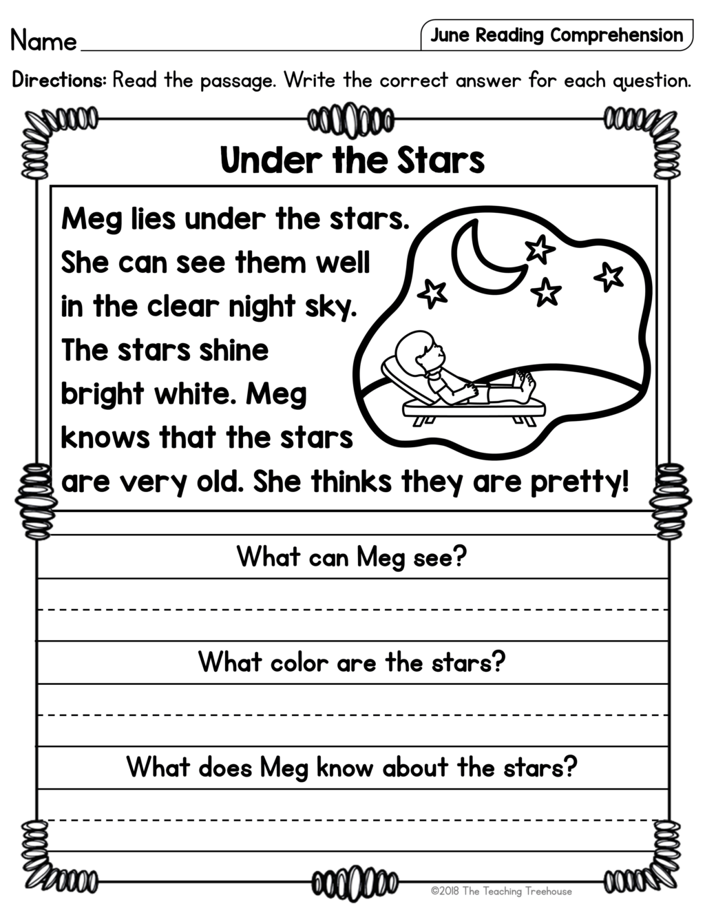 Christmas Reading Worksheets First Grade