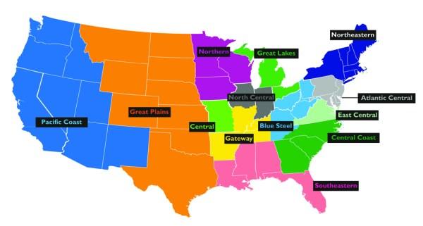 District Map - Alpha Chi Sigma