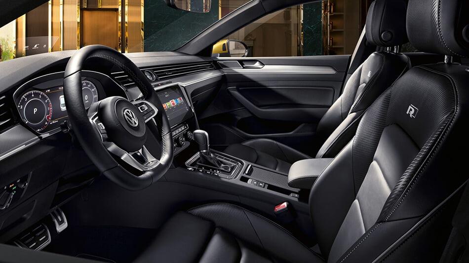 VW Artheon from the inside