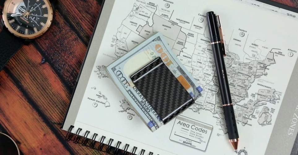 Carbon Fiber Money Clip for Men