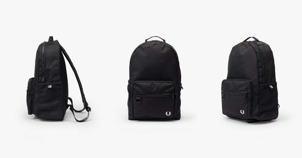 Fred Perry Textured Sports Backpack for Men