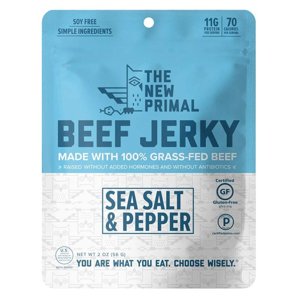 The New Primal Sea Salt and Pepper Jerky