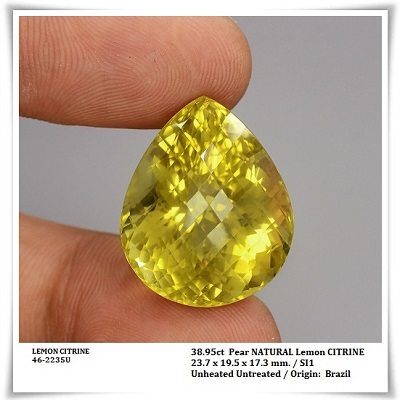 GemRock-Wellness_38.95ct. Lemon Cirtrine Quartz