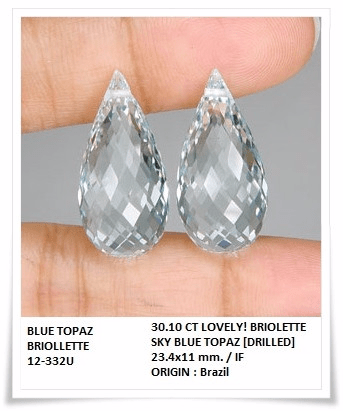 gemstones_GemRock-Wellness_30.10 Ct. Lovely Lt Blue Topaz Briolette_A pair_90
