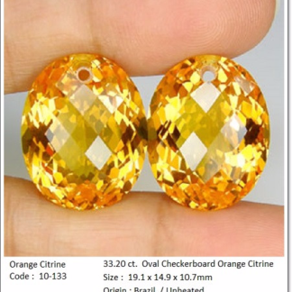 gemstones_GemRock-Wellness_33.20 ct. Orange Citrine_A pair_567