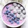Simple Blueberry Kale Smoothie Bowl Recipe