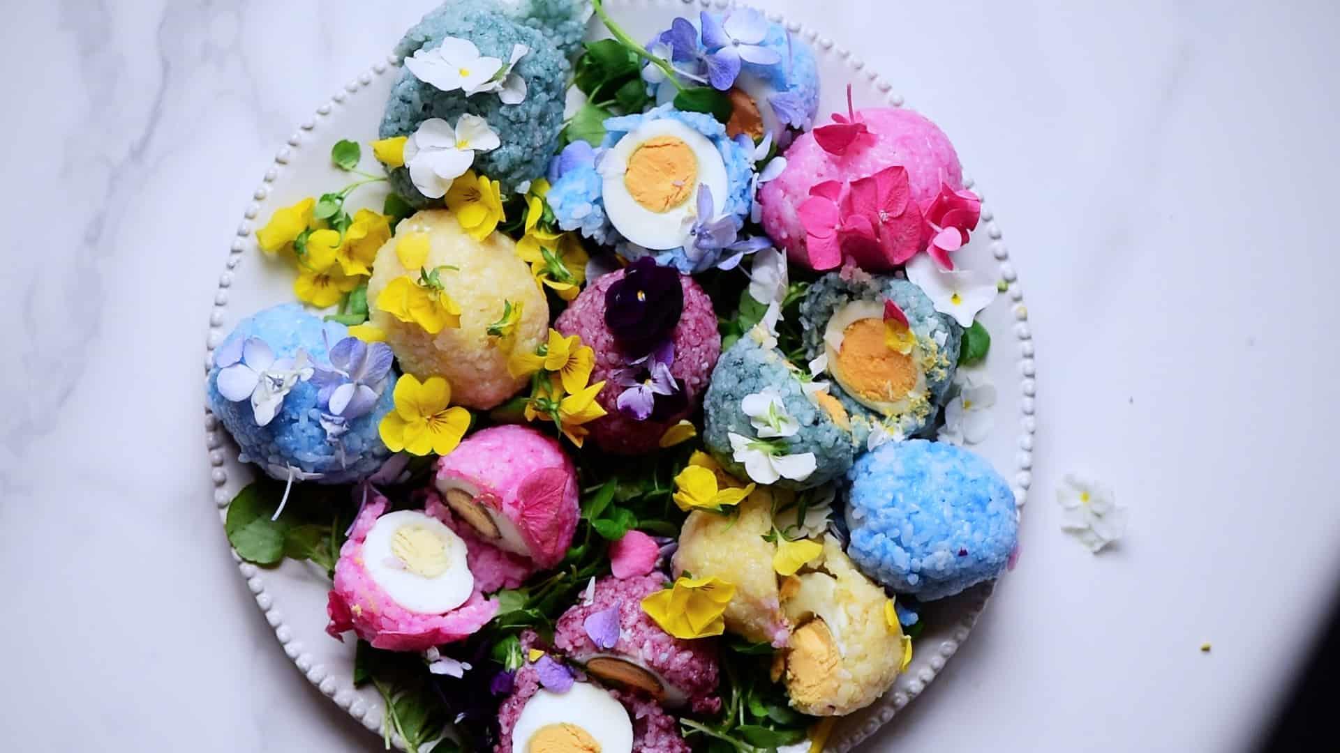 Rainbow Rice Eggs