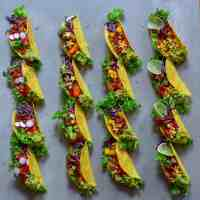 Meat-free Organic Rainbow Tacos: 4-ways