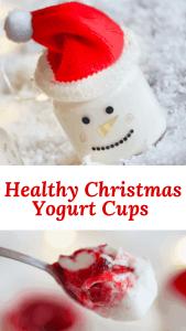 Christmas yogurt with cranberry sauce