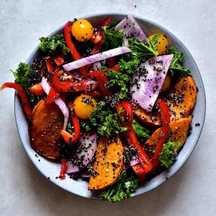 Quinoa & Butternut squash salad in a jar