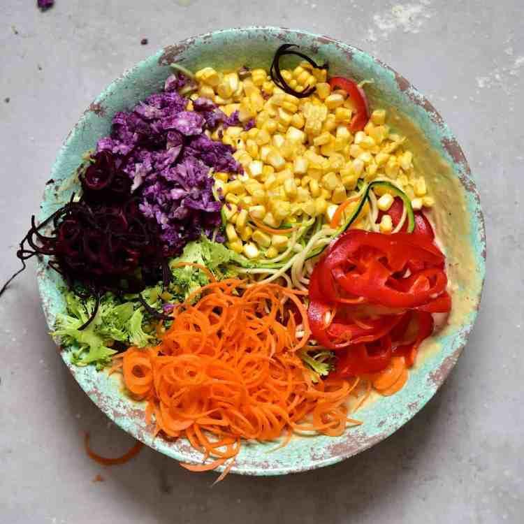 Rainbow mixed vegetable savoury cupcakes