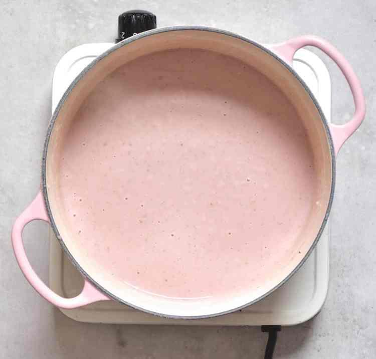 Rose Water Strawberry tart filling