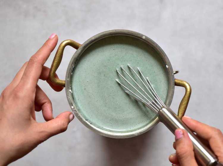Green filling for vegan tarts