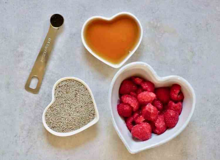vegan raspberry chia jam