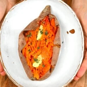 how to make baked sweet potatoes in