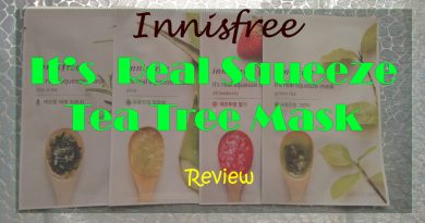 Innisfree It's Real Squeeze Mask Tea Tree Review