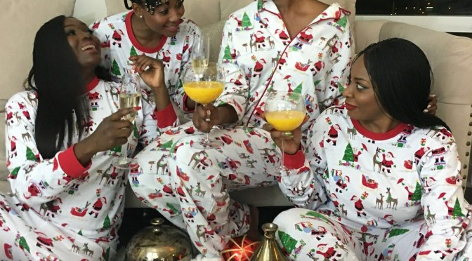 Happy holidays from mama Prince Kairo and her sisterhood squad!