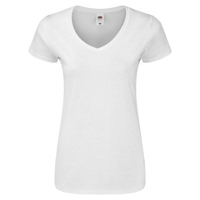 T-shirt manica corta lavoro donna colore bianco