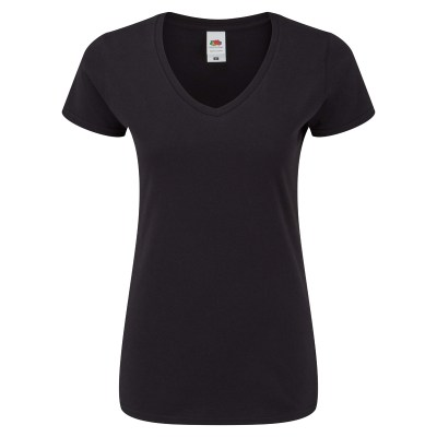 T-shirt manica corta lavoro donna colore nero