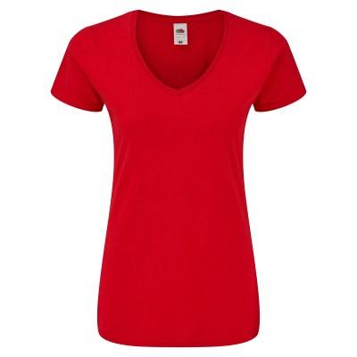 T-shirt manica corta lavoro donna colore rosso