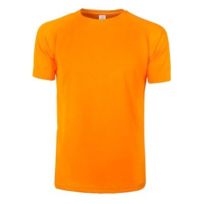 T-shirt maniche corte raglan lavoro uomo colore arancio