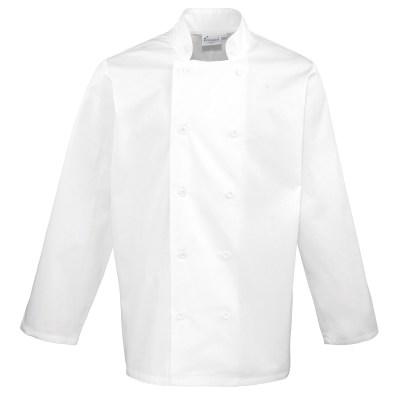 Giacca da chef unisex a manica lunga colore BIANCO