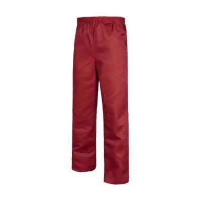 Pantalone unisex fondo diritto colore BORDEAUX