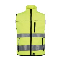 GILET WORKSHELL Alta visibilità colore giallo
