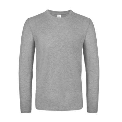 T-shirt a manica lunga con struttura tubulare lavoro uomo colore grigio